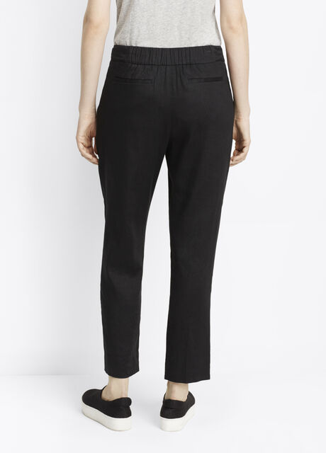 Luxe Linen Pull-On Trousers