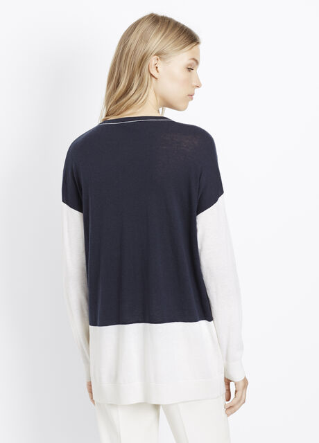 Colorblock Easy V-Neck Sweater