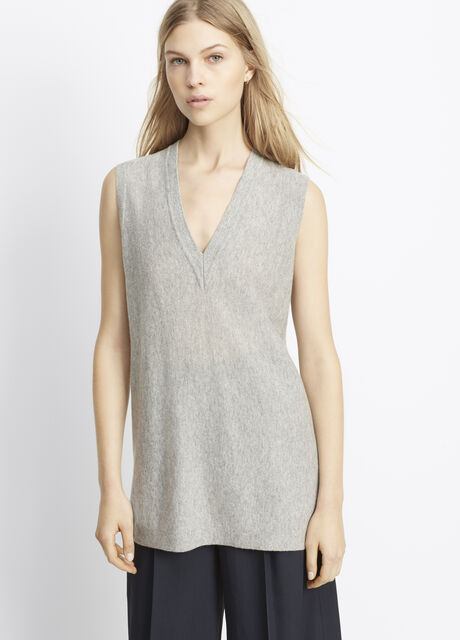 Cashmere Deep V-Neck Sweater Vest