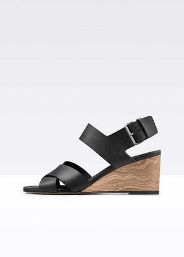 Gwyn Leather Slingback Wedge Sandal