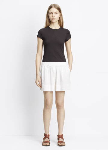 Linen Blend Pull-On Shorts