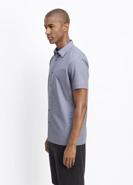 Melrose Jacquard Short Sleeve Button Up