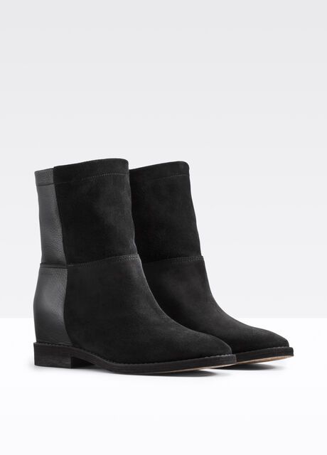 Grayson Mixed Media Ankle Bootie