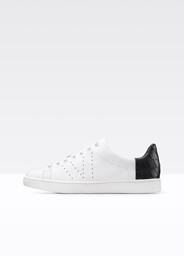 Varin Texture Blocked Leather Sneaker