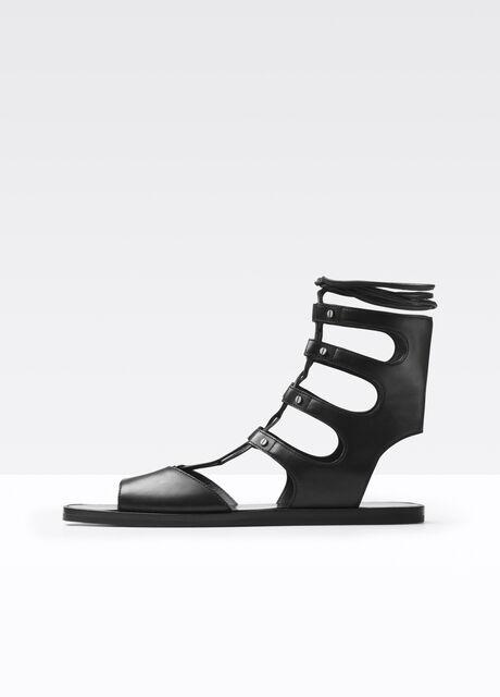 Niva Leather Lace Up Gladiator Sandal