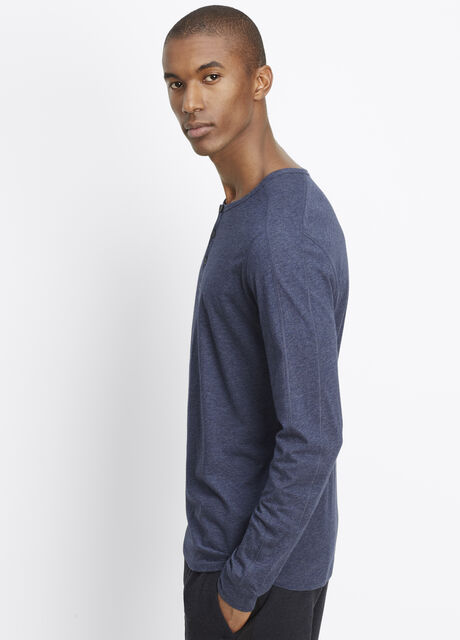 Pima Cotton Long Sleeve Henley