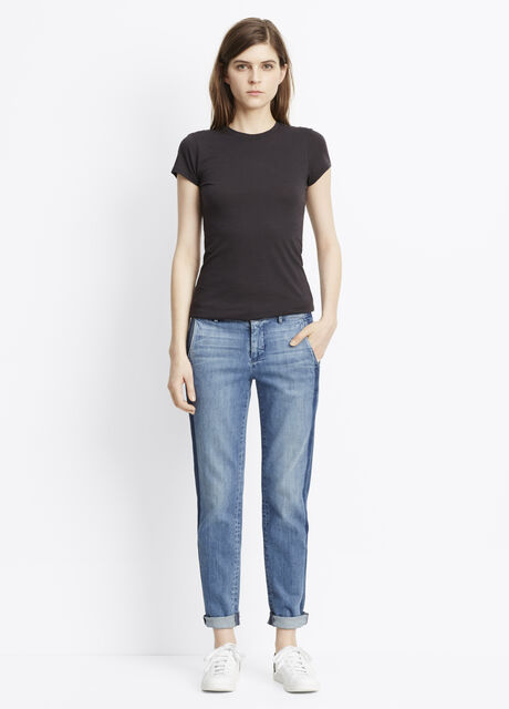 Denim Side Strapping Pant