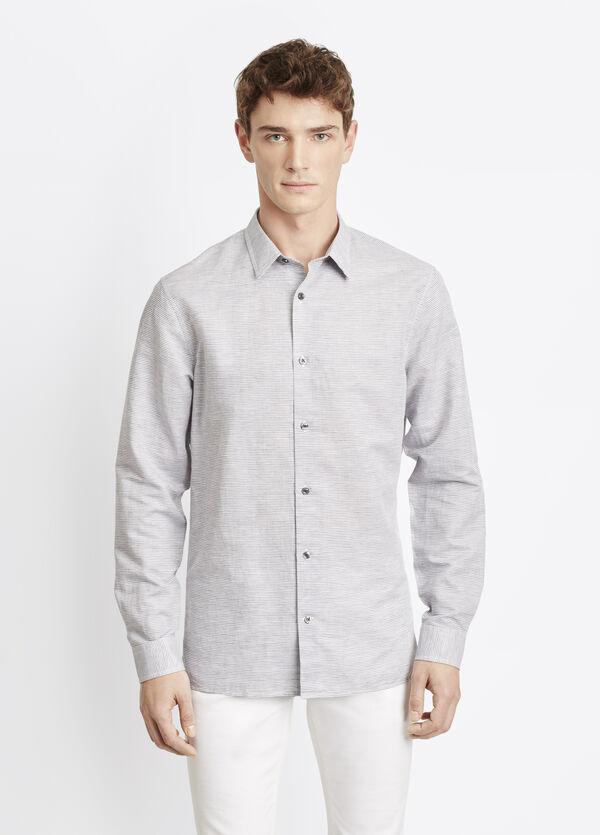 Linen Cotton Double-Faced Square Hem Button Up