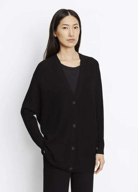 Double-Faced Mesh Cardigan