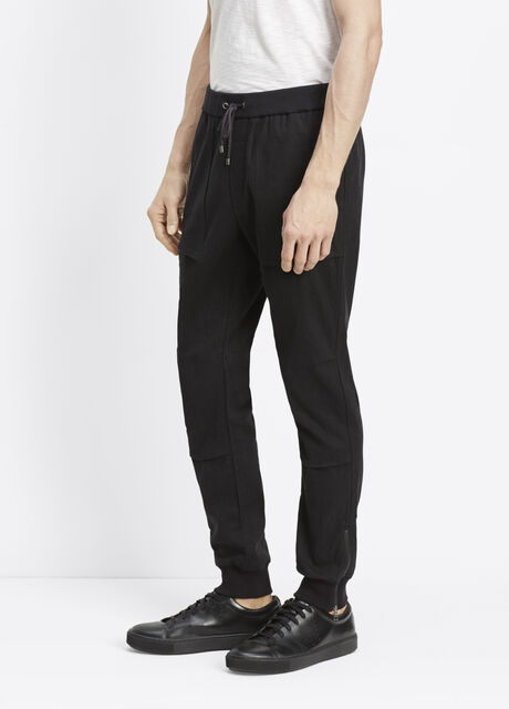 Linen Blend Flight Jogger with Ankle Zippers
