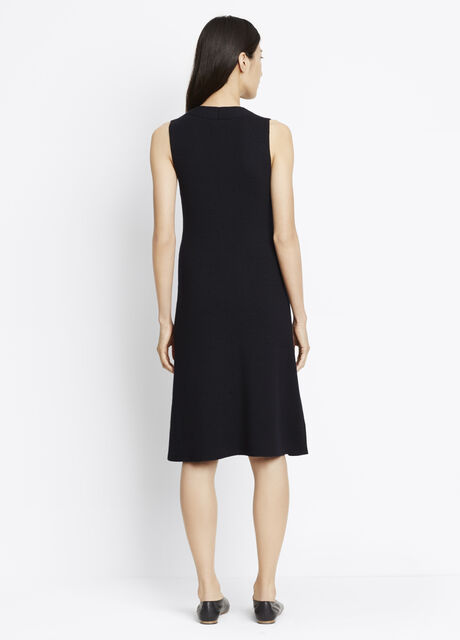 Plaited Rib Fit And Flare Dress