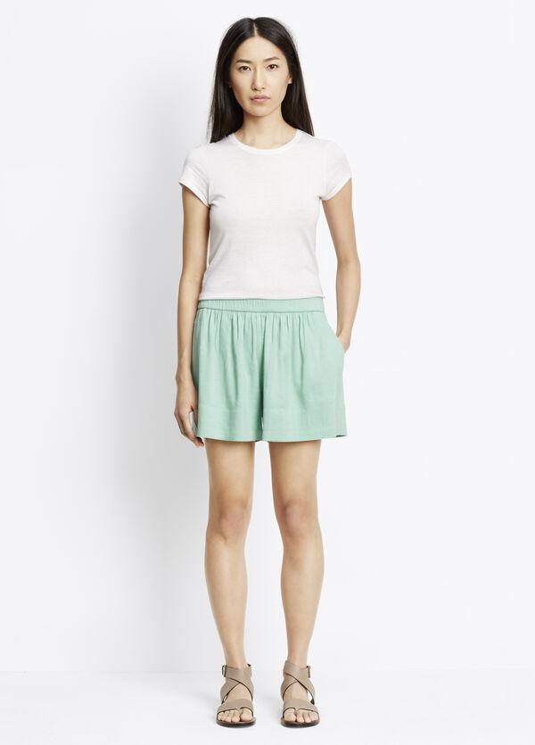 Linen Blend Pull-On Shorts