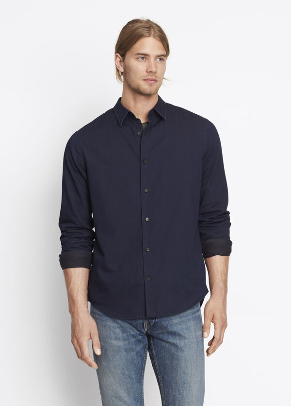 Denim Twill Button Up