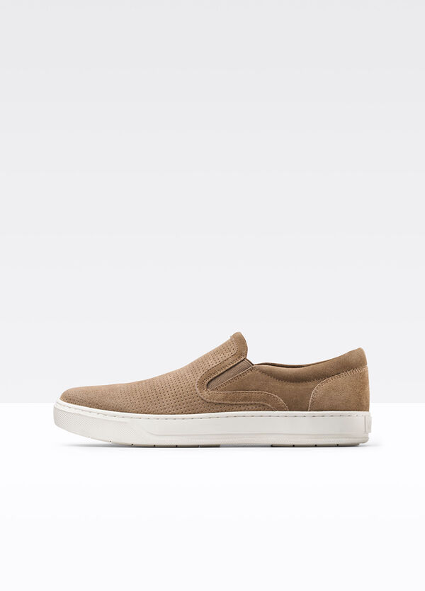 Ace Perforated Sport Suede Sneaker