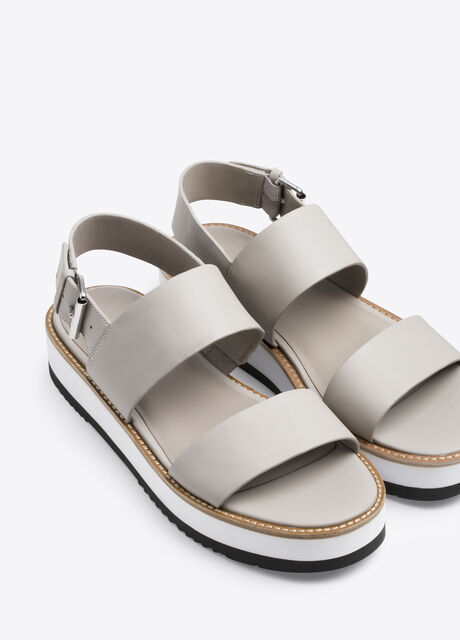 Mana Leather Flatform Sandal
