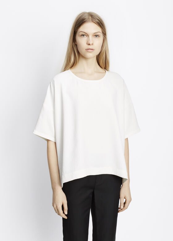Washed Pique Square Tee