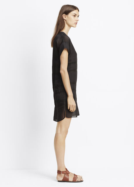 Lace Inset Popover Dress