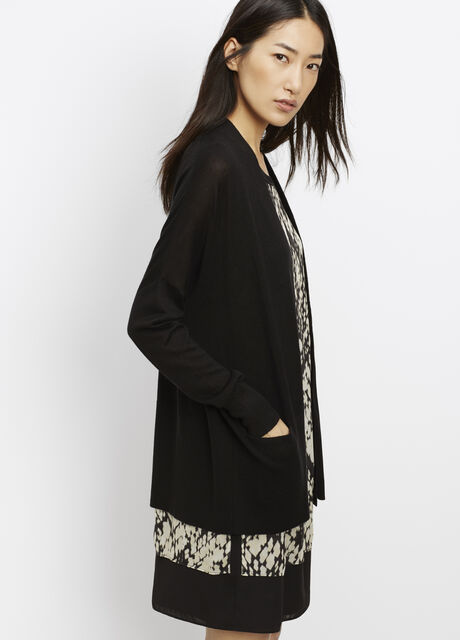 Silk Cashmere Open Front Cardigan