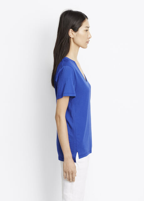 Pima Cotton Relaxed V-Neck Tee