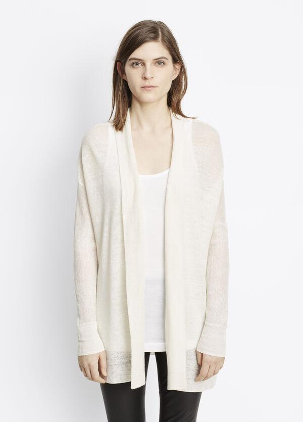 Linen Blend Long Cardigan