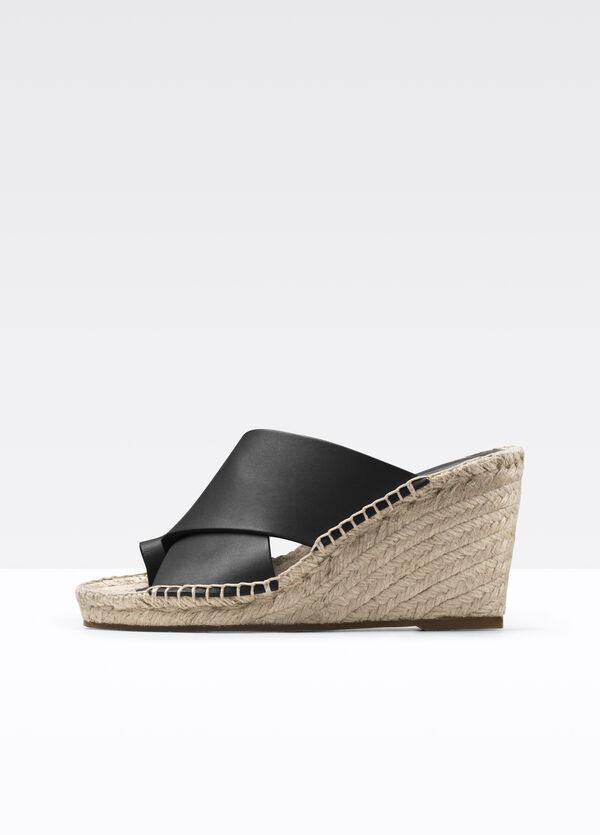 Suraya Leather Espadrille Wedge Sandal