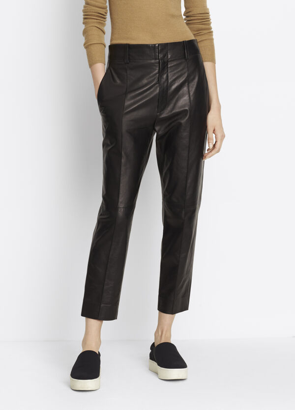 Leather Carrot Shape Pant