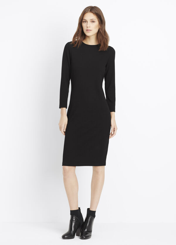 3/4 Sleeve Bouclé Dress