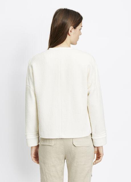 Bouclé Frayed Trim Jacket