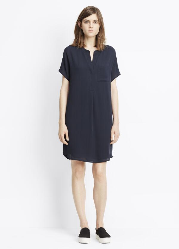 Silk Cap Sleeve Popover Dress