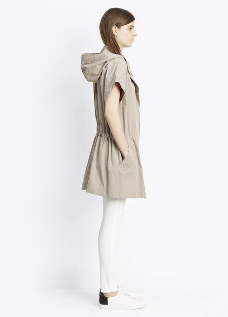 Cap Sleeve Hooded Anorak
