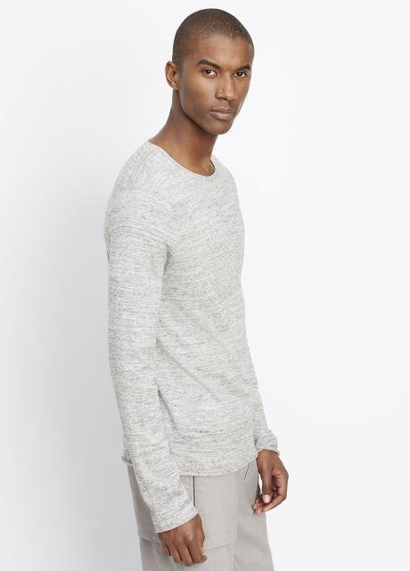 Sporty Jaspé Long Sleeve Lightweight Sweater