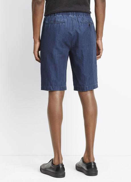 Cotton Linen Indigo Short