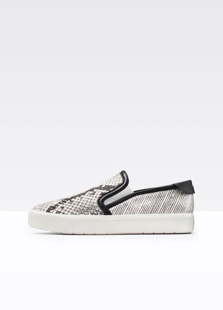 Bram Exotic Mixed Media Sneaker