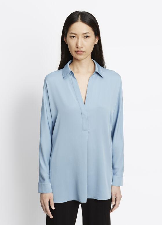 Long Sleeve V-Neck Blouse