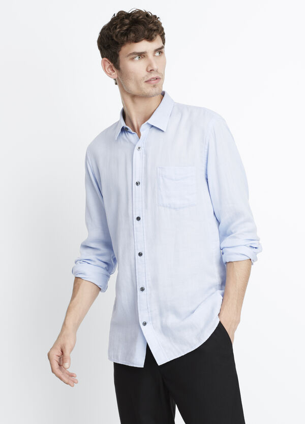 Melrose Double-Faced Square Hem Button Up