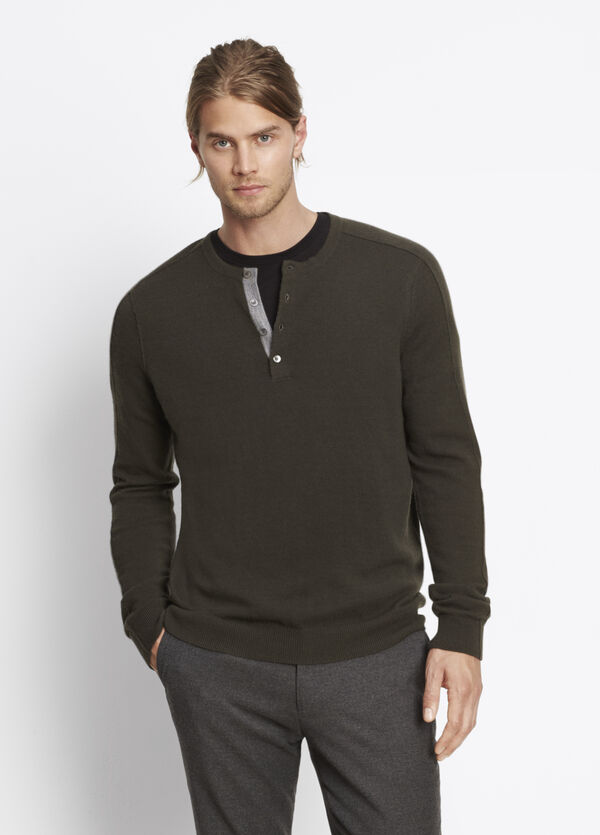 Cashmere Long Sleeve Henley