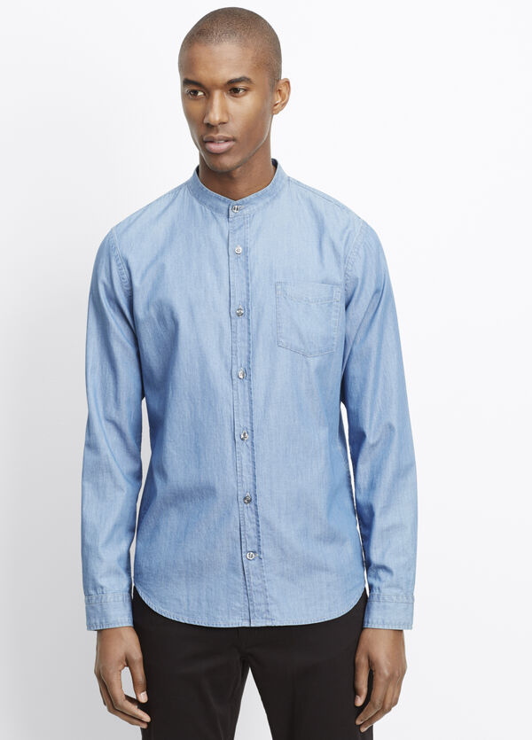 Melrose Stand Collar Button Up