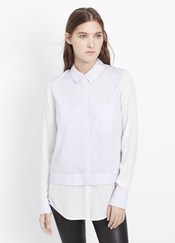 Block Striped Classic Button Up