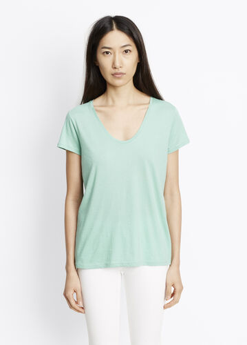 Pima Cotton U-Neck Tee
