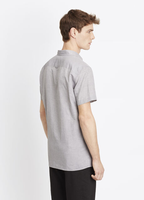 Melrose Linen Cotton Short Sleeve Button Up