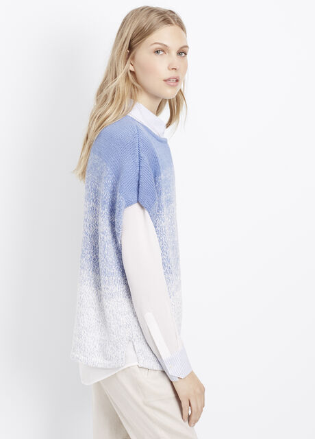 Marled Ombré Textured Cocoon Pullover