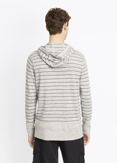 Striped Sporty Jaspé Hooded Sweater