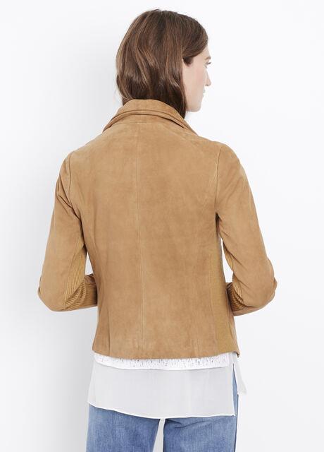Suede Scuba Jacket