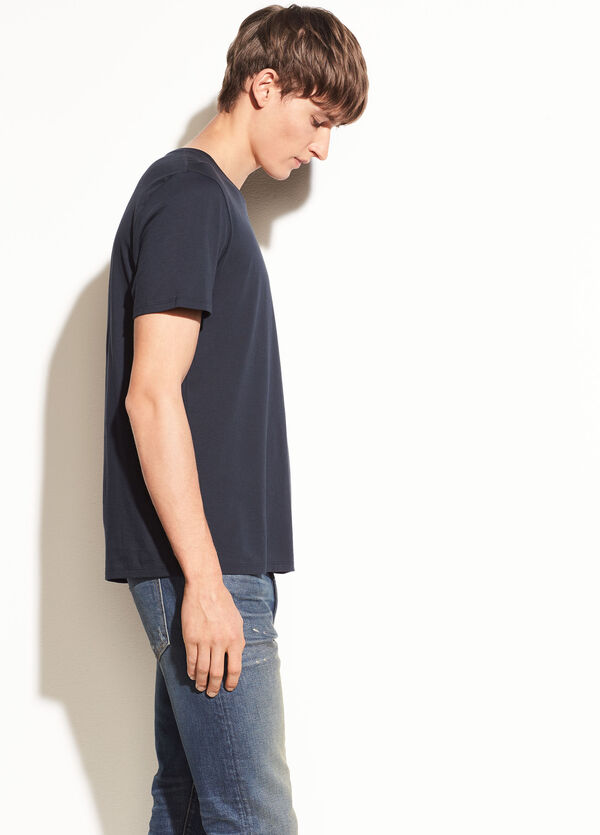 Pima Cotton Short Sleeve Crew Neck Tee