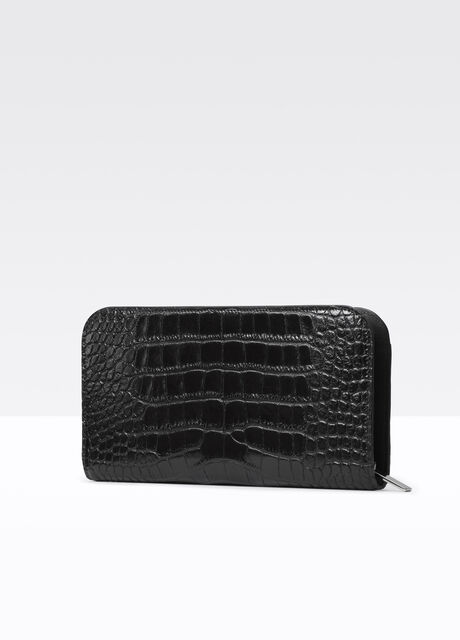 Vince Signature Collection Stamped Croc Long Wallet