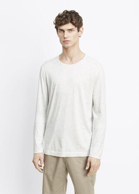 Cotton-Modal Mixed Stitch Long Sleeve Tee
