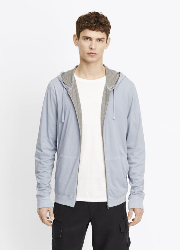 Pima Cotton Double Layer Reversible Hoodie