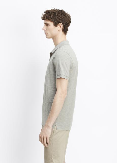 Slub Cotton Short Sleeve Polo