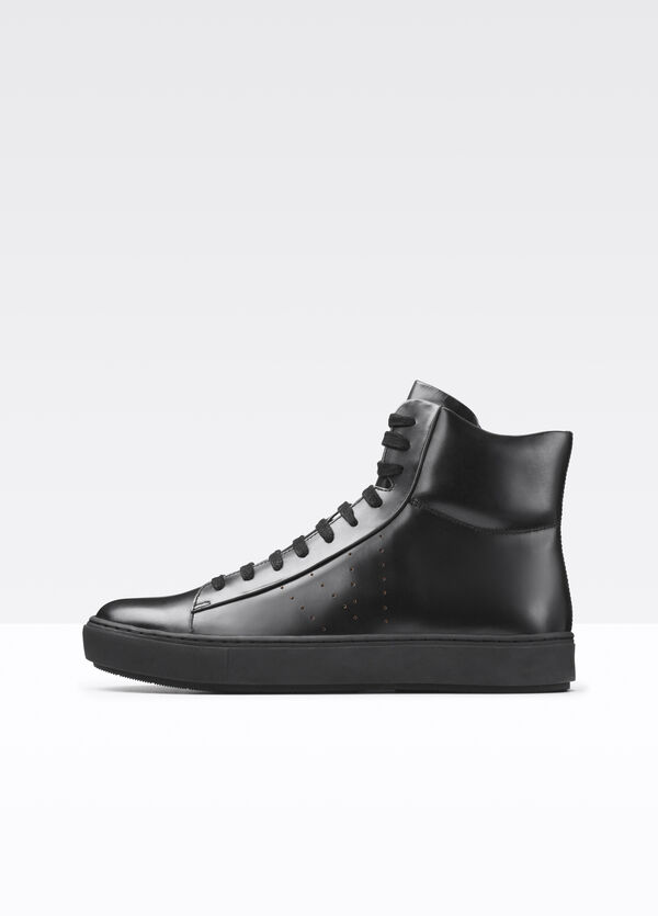 Liam High Top Leather Sneaker