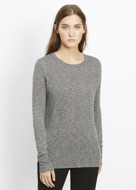 Lightweight Mouline Slub Crew Neck Sweater